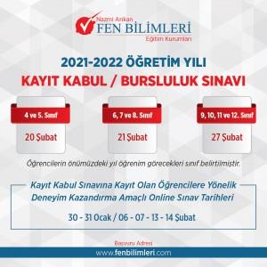 2020-2021 ÖĞRETİM YILI KAYIT KABUL / BURSLULUK SINAVI