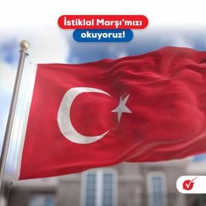İSTİKLAL MARŞIMIZI BİRLİKTE SÖYLÜYORUZ !